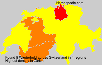 Surname Wiederhold in Switzerland