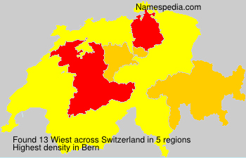 Surname Wiest in Switzerland