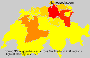 Surname Wiggenhauser in Switzerland