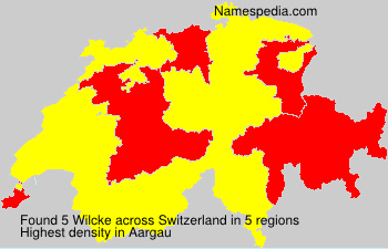Surname Wilcke in Switzerland