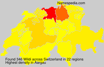 Surname Wildi in Switzerland