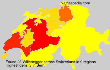 Familiennamen Willenegger - Switzerland