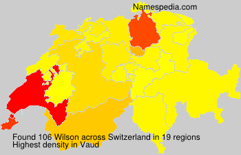 Surname Wilson in Switzerland