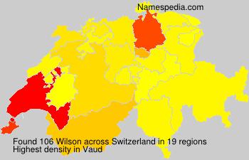 Surname Wilson in Switzerland