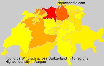 Surname Windisch in Switzerland