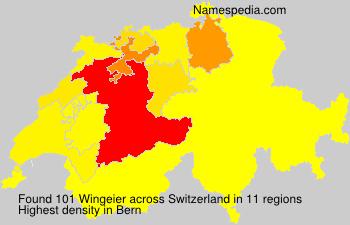 Surname Wingeier in Switzerland