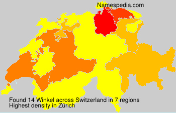 Surname Winkel in Switzerland