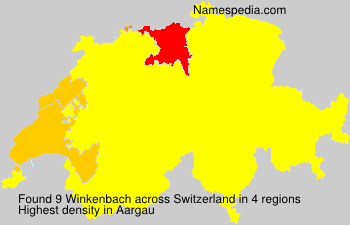 Surname Winkenbach in Switzerland