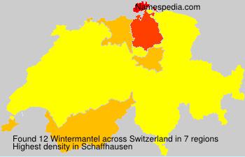 Surname Wintermantel in Switzerland