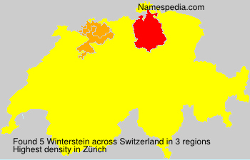 Surname Winterstein in Switzerland