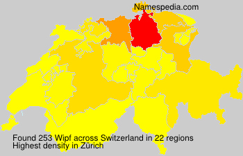 Surname Wipf in Switzerland
