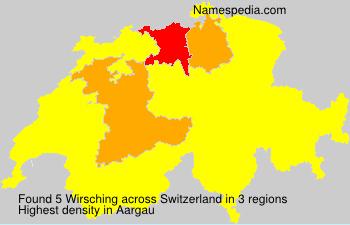 Surname Wirsching in Switzerland