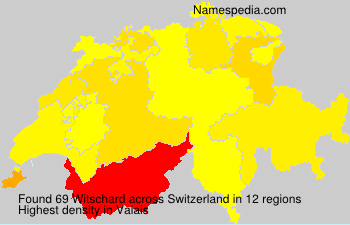 Surname Witschard in Switzerland