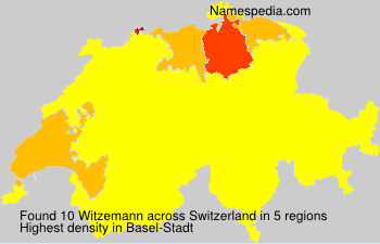 Surname Witzemann in Switzerland