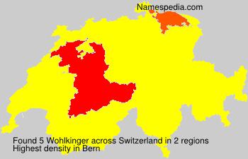 Familiennamen Wohlkinger - Switzerland