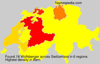 Surname Wolfsberger in Switzerland