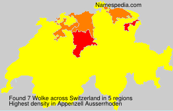 Surname Wolke in Switzerland