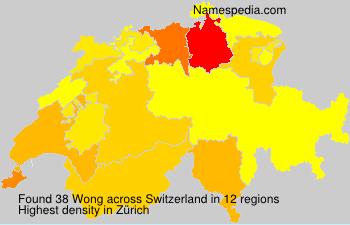 Surname Wong in Switzerland