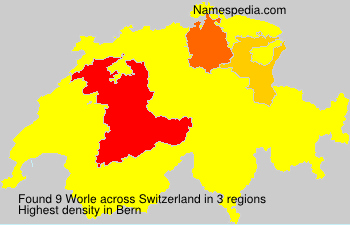 Surname Worle in Switzerland
