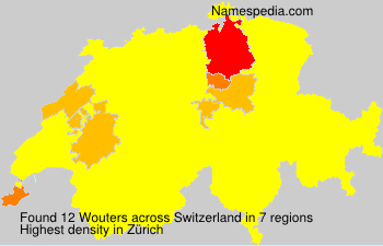 Surname Wouters in Switzerland