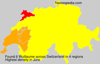 Surname Wuillaume in Switzerland