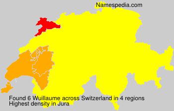 Familiennamen Wuillaume - Switzerland