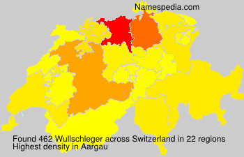 Surname Wullschleger in Switzerland