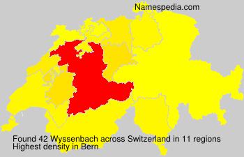 Surname Wyssenbach in Switzerland