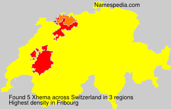 Surname Xhema in Switzerland