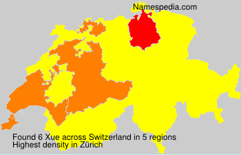 Familiennamen Xue - Switzerland
