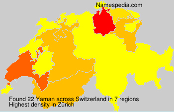 Surname Yaman in Switzerland