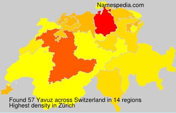 Surname Yavuz in Switzerland