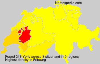 Familiennamen Yerly - Switzerland