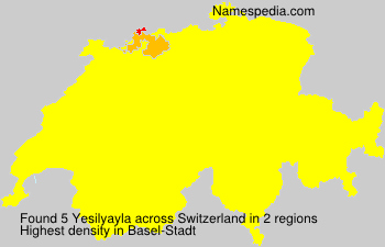 Surname Yesilyayla in Switzerland