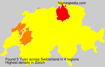 Surname Yuan in Switzerland