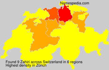 Familiennamen Zahiri - Switzerland