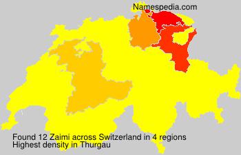Surname Zaimi in Switzerland