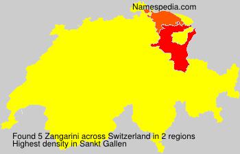 Surname Zangarini in Switzerland
