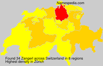 Surname Zangerl in Switzerland