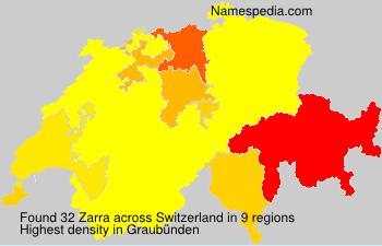Surname Zarra in Switzerland