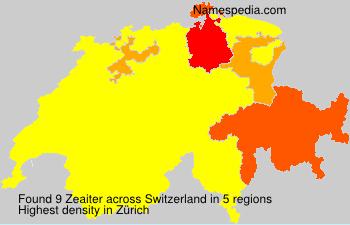Surname Zeaiter in Switzerland