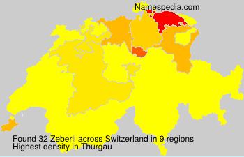 Surname Zeberli in Switzerland