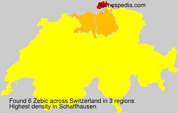 Surname Zebic in Switzerland