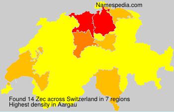 Surname Zec in Switzerland