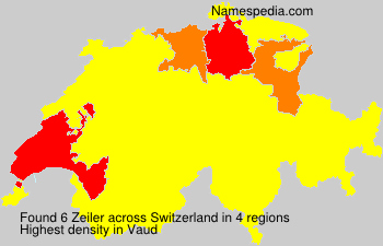 Surname Zeiler in Switzerland