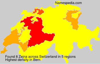 Surname Zejna in Switzerland