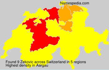 Familiennamen Zekovic - Switzerland