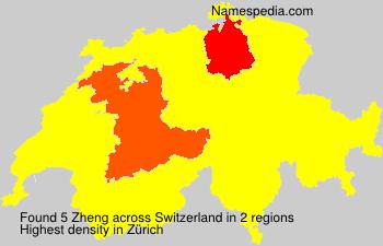 Surname Zheng in Switzerland