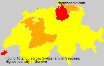 Surname Zhou in Switzerland
