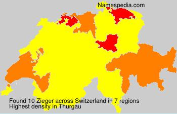 Surname Zieger in Switzerland